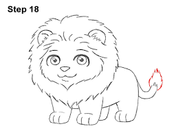 draw lion cartoon