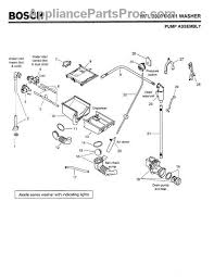 bosch ascenta dishwasher parts diagram bosch refrigerator parts