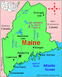 map of maine cities maine facts map and state symbols enchantedlearning com