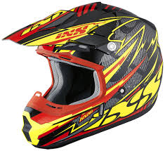 clearance motocross helmets ixs hx 261 thunder black red yellow motorcycle helmets ixs