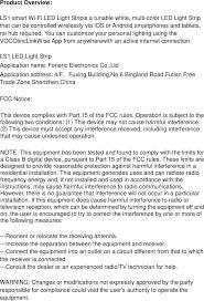 fry s led light strips ls1 ls1 smart wi fi led light strip user manual foneric electronics
