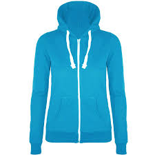 womens ladies plain hoodie hoody sweatshirt hooded jumper