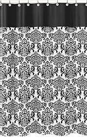And Black Fabric For Curtains Sweet Jojo Designs Black And White