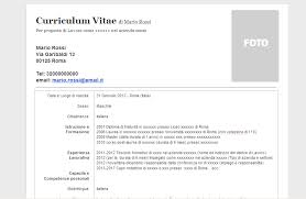 curriculum vitae formato pdf da compilare curriculum vitae modello curriculum vitae in formato word doc