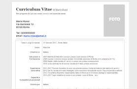 scarica curriculum vitae europeo da compilare gratis pdf curriculum vitae modello curriculum vitae in formato word doc
