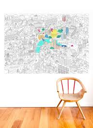 omy design and play giant colouring poster london amazon co uk