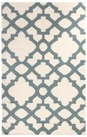 flat weave trellis design light blue white rug style my home