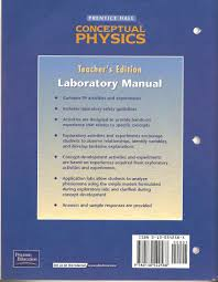 prentice hall conceptual physics laboratory manual teacher u0027s