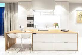 cuisine en bois blanc table blanche bois nett cuisine blanche mat et bois blanc accueil