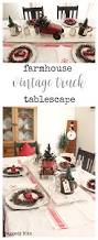 farmhouse vintage truck tablescape