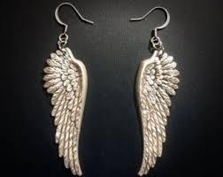 angel wing earrings angel wing earrings etsy