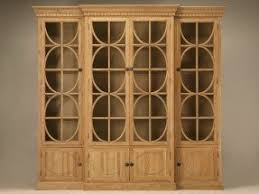 Weathered Bookcase Wooden Bookcases With Glass Doors Foter