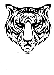 unique tribal tiger muzzle design tattooimages biz