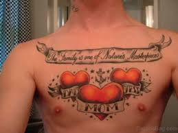 27 family wording tattoos on chest chest tattoos family