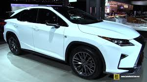 lexus crossover inside 2016 lexus rx350 f sport exterior and interior walkaround