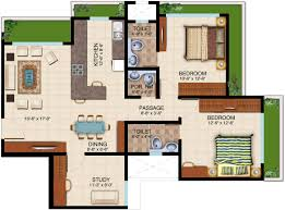Serenity Floor Plan 1275 Sq Ft 2 Bhk Floor Plan Image Dheeraj Realty Serenity