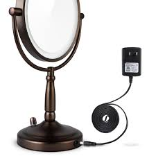 miusco 7x lighted magnifying double side cosmetic makeup mirror