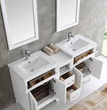 60 Bathroom Vanity Double Sink White by Cambridge 60 Inch White Finish Double Sink Traditional Bathroom
