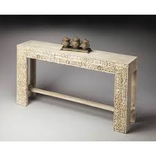 mango wood console table butler specialty company artifacts recycled mango wood console table