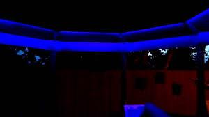Solar String Lights For Gazebo by Rgb Gazebo Canopy Led Glow Lights Youtube