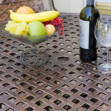 Aluminum Outdoor Patio Furniture by Sebastian Cast Aluminum Outdoor Dining Set In Copper Patio Table
