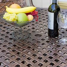 Aluminum Outdoor Patio Furniture by Sebastian Cast Aluminum Outdoor Dining Set In Copper Patio Table