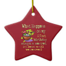 21 years ornaments keepsake ornaments zazzle