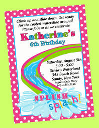 Invitation Card For Pool Party Pool Party Invitations For Girls Template Best Template Collection