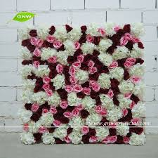 wedding backdrop taobao gnw flw1508013 cheap silk flower wall wedding backdrop for wedding