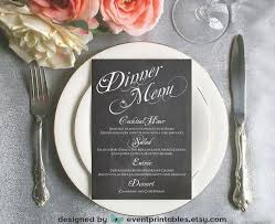 diy wedding menu cards printable chalkboard dinner menu card diy wedding reception menu