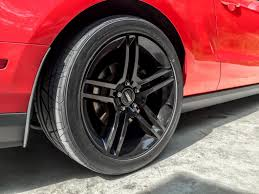 2010 Black Mustang Mustang Staggered 2010 Gt500 Style Black Wheel U0026 Nitto Invo Tire