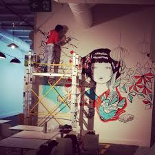 missushi mural for flatofis gamze yalcin i was asked to design and make mural in a japanese restaurant called