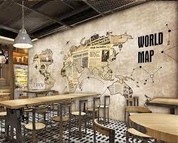 Wohnzimmer Cafe Online Shop Beibehang Benutzerdefinierte 3d Tapete Retro Weltkarte