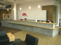 Plywood Reception Desk Office And Educational Environments Custom Solutions Ohiocemtech