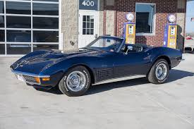 1972 corvette convertible 454 for sale targa blue 1972 chevrolet corvette for sale mcg marketplace