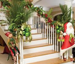 How To Decorate Banister With Garland Simple Christmas Staircase Decorating Ideas