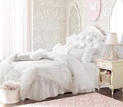 romantic white falbala ruffle lace bedding sets princess duvet