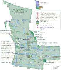 Map of the pacific northwest 39 s top attractions go northwest a