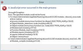 discord javascript error support javascript error discordapp