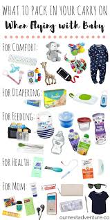 Flying With Baby What To Pack In Your Carry On Smooth Babies