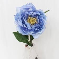 faux peonies light blue peony stem silk wedding flowers afloral