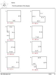 perimeter worksheets geometry homework
