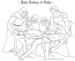 saint coloring page saint anthony of padua coloring page june 13th u2013 catholic playground