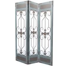 Wrought Iron Room Divider by Metal Room Dividers You U0027ll Love Wayfair