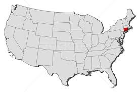 connecticut on map map of the united states connecticut highlighted vector