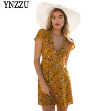 summer dress women summer dress 2018 floral print v neck