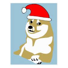 Christmas Doge Meme - christmas meme postcards zazzle