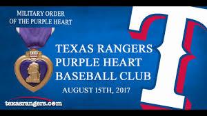 lexus texas rangers tickets texas rangers first purple heart baseball club 125 purple heart
