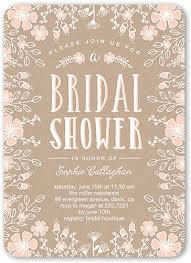 bridal shower invitation flower border 5x7 bridal shower invitations shutterfly