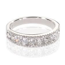 alliance en or demi alliance en or et diamants mariage d206 aux diamants de